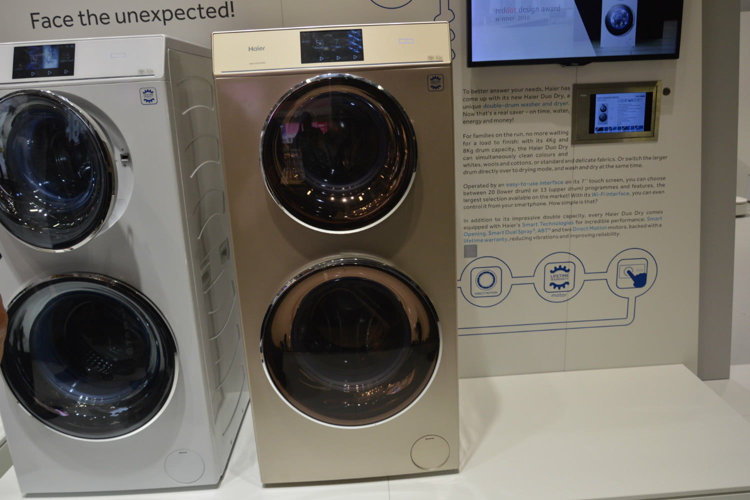 cool washers and dryers from ifa 2016 haier duo dryer full