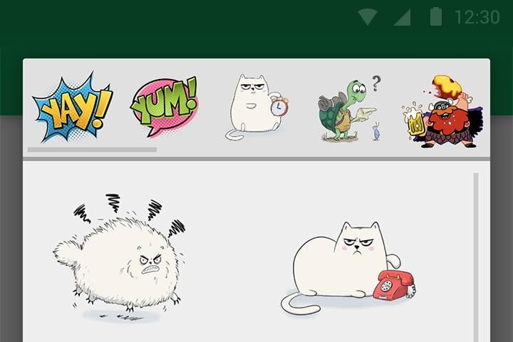 google hangouts android app location sharing upate stickers close