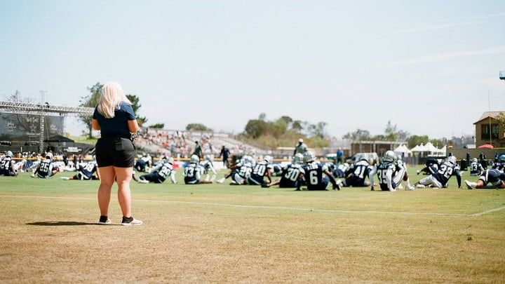 The Dallas Cowboys practice in Hard Knocks on HBO.