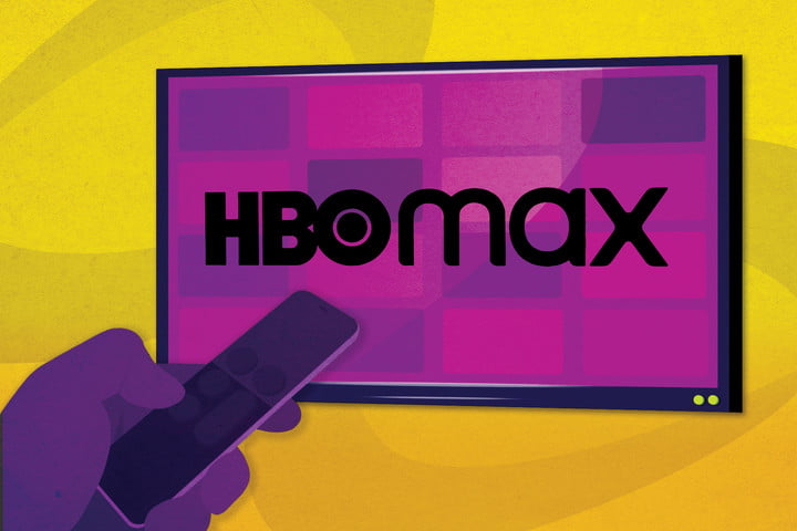 HBO Max logo on a TV screen.