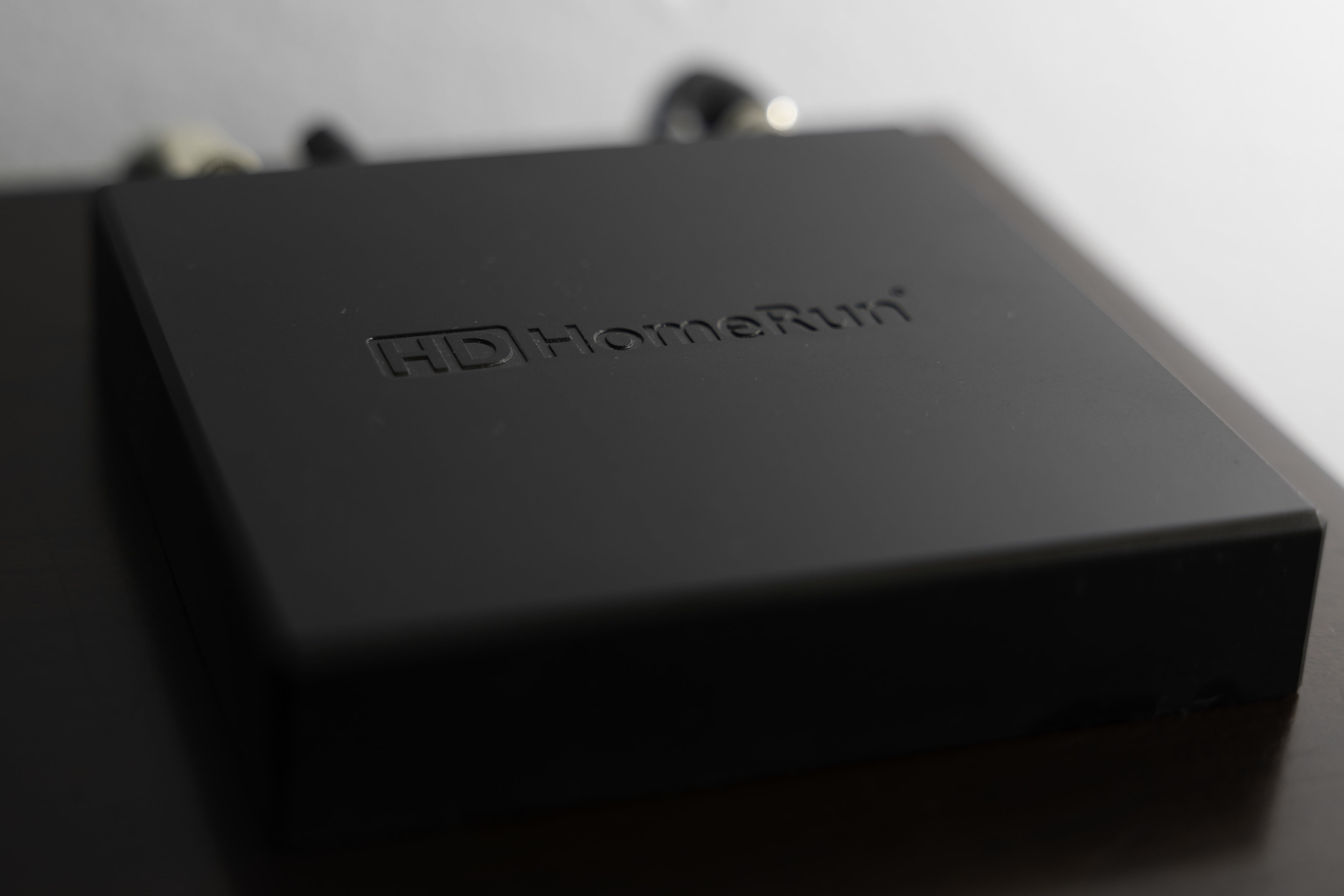 HDHomeRun over-the-air streaming box.