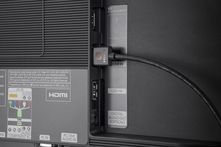 HDMI ARC port on back of a TV.