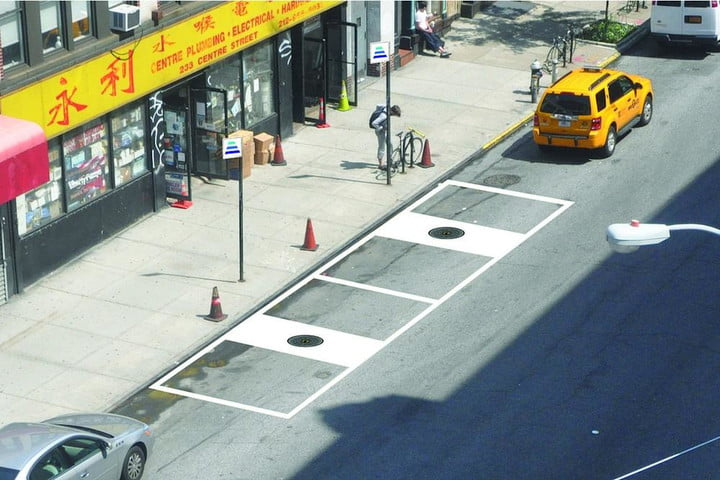 wireless chargers disguised as manhole covers in nyc hevo vehicle receiver street