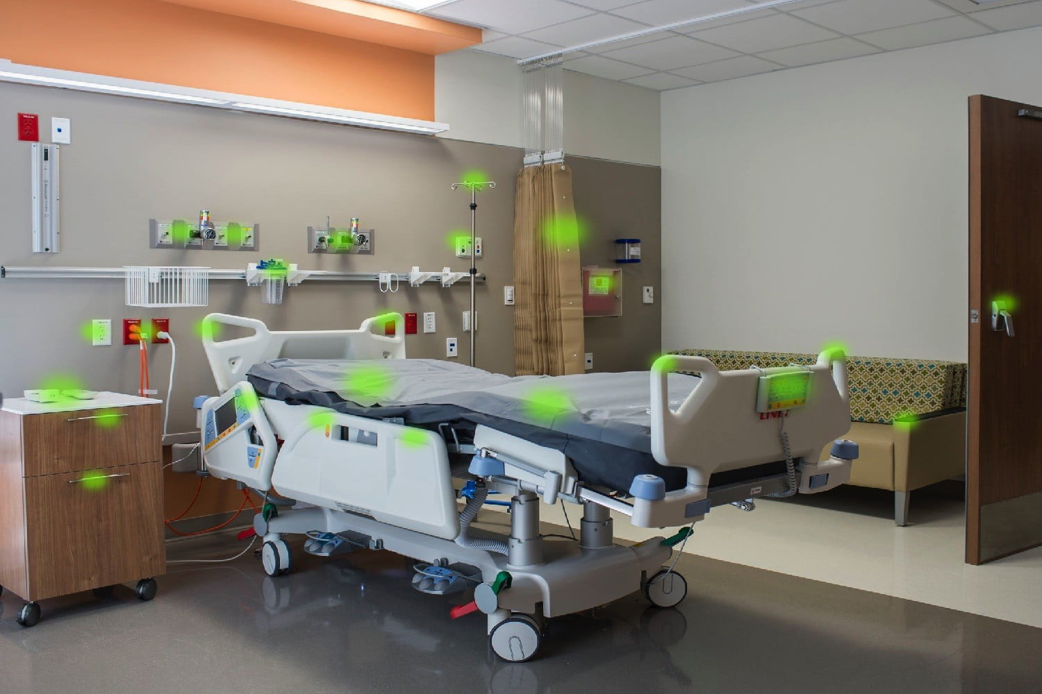 superbug zapping robot new jersey high touch areas in a hospital room