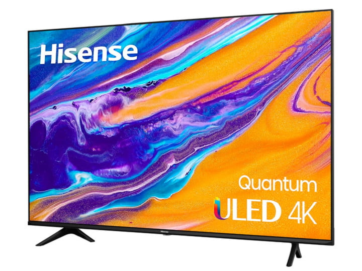 55-inch 4K TV by Hisense with bright colors on the screen.
