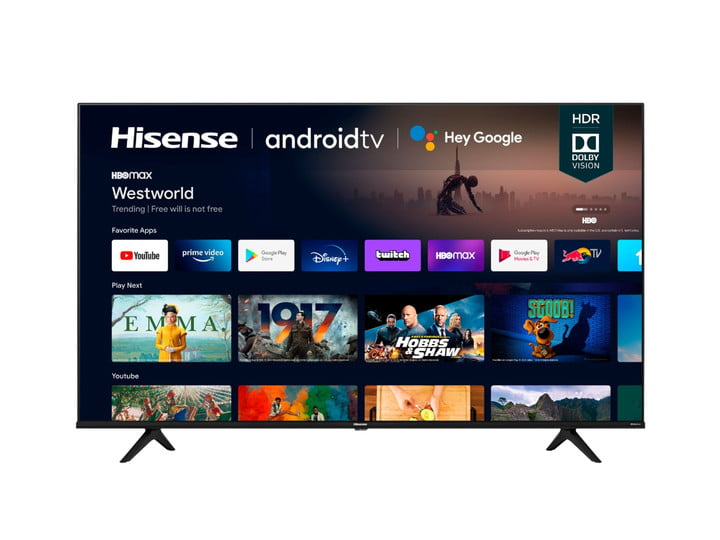 Hisense 70A6G 70-inch 4K UHD Android Smart TV product image with Android TV UI.