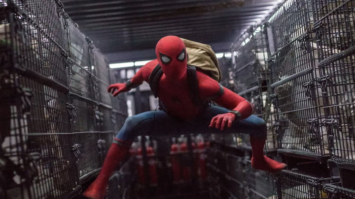 Spider-Man in Spider-Man: Homecoming.