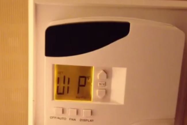 hack hotel thermostat into vip mode