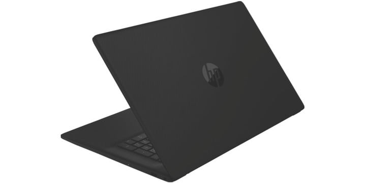 HP 17-inch laptop on white background.
