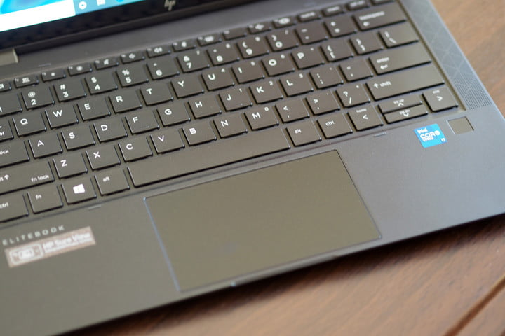 The HP Elite Dragonfly Max has an excellent keyboard.
