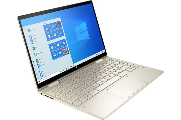 The HP Envy x360 2-in-1 laptop has a 360 degree hinge.