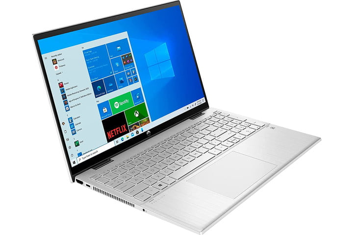 The HP Pavilion x360 in laptop form.