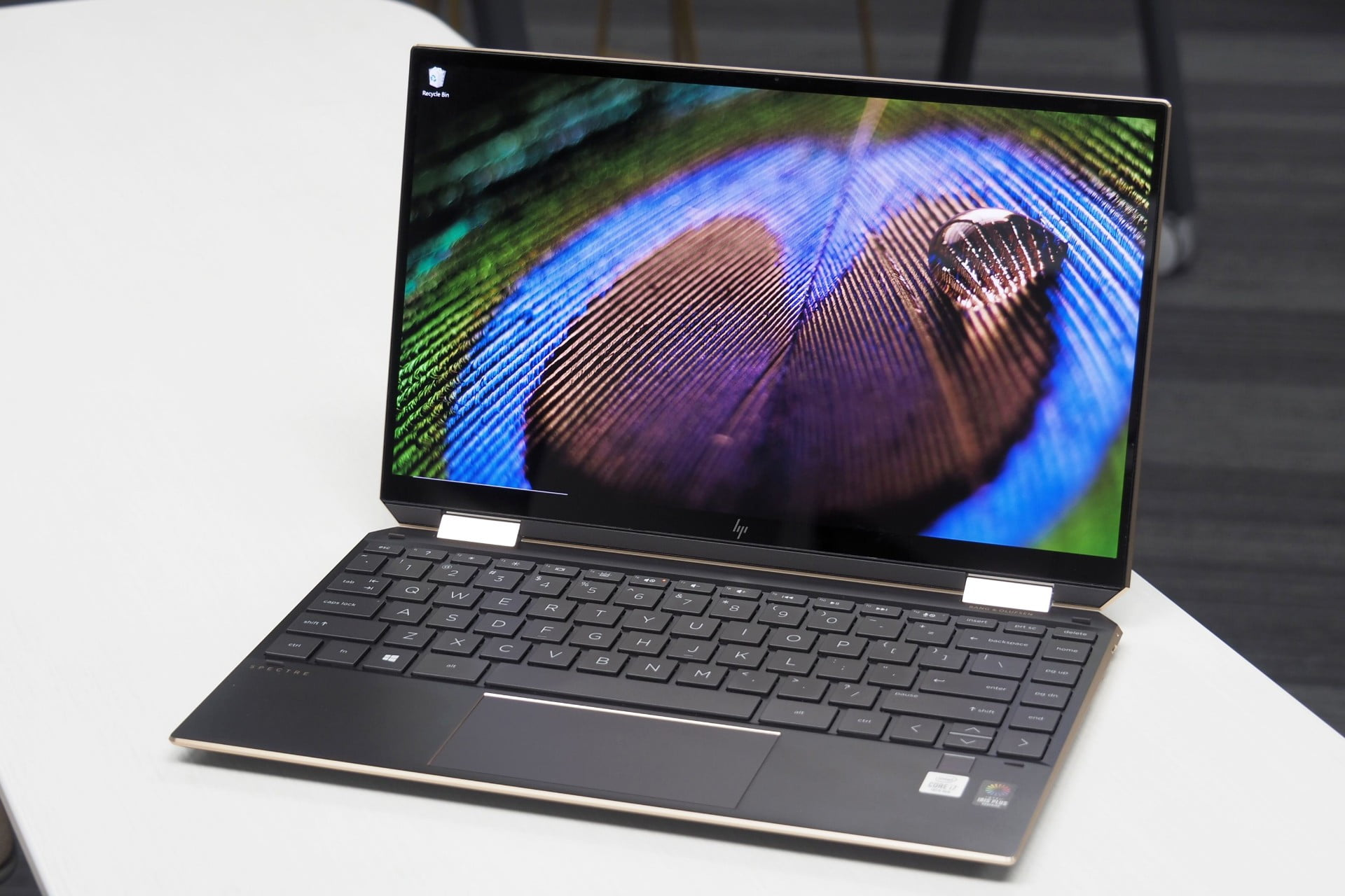 HP Spectre x360 13 front view showing display and keyboard deck.
