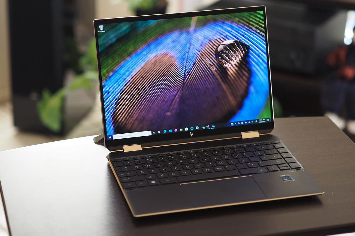 HP Spectre x360 14 front view showing display and keyboard deck.