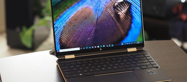 HP Spectre x360 14 Front view showing display and keyboard.