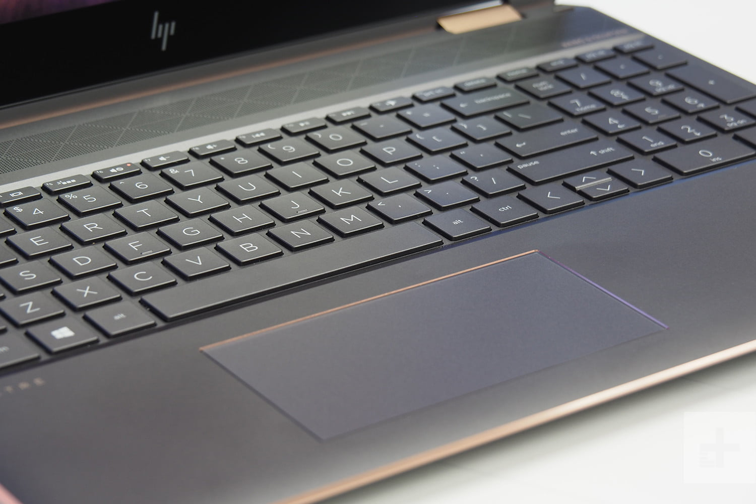 HP Spectre x360 15 showing keyboard and touchpad.
