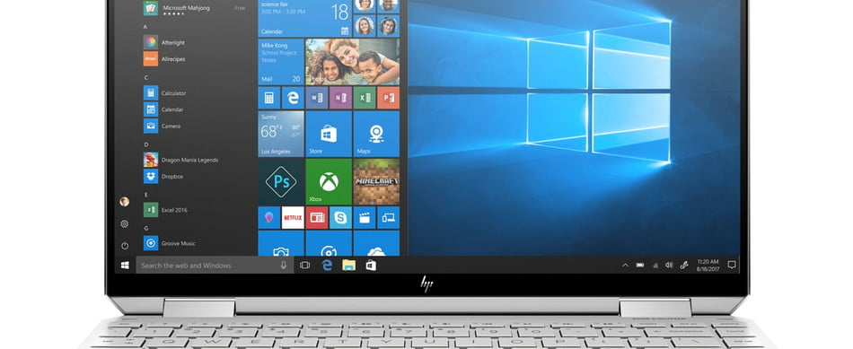 The HP Envy x360 laptop has a 360-degree hinge