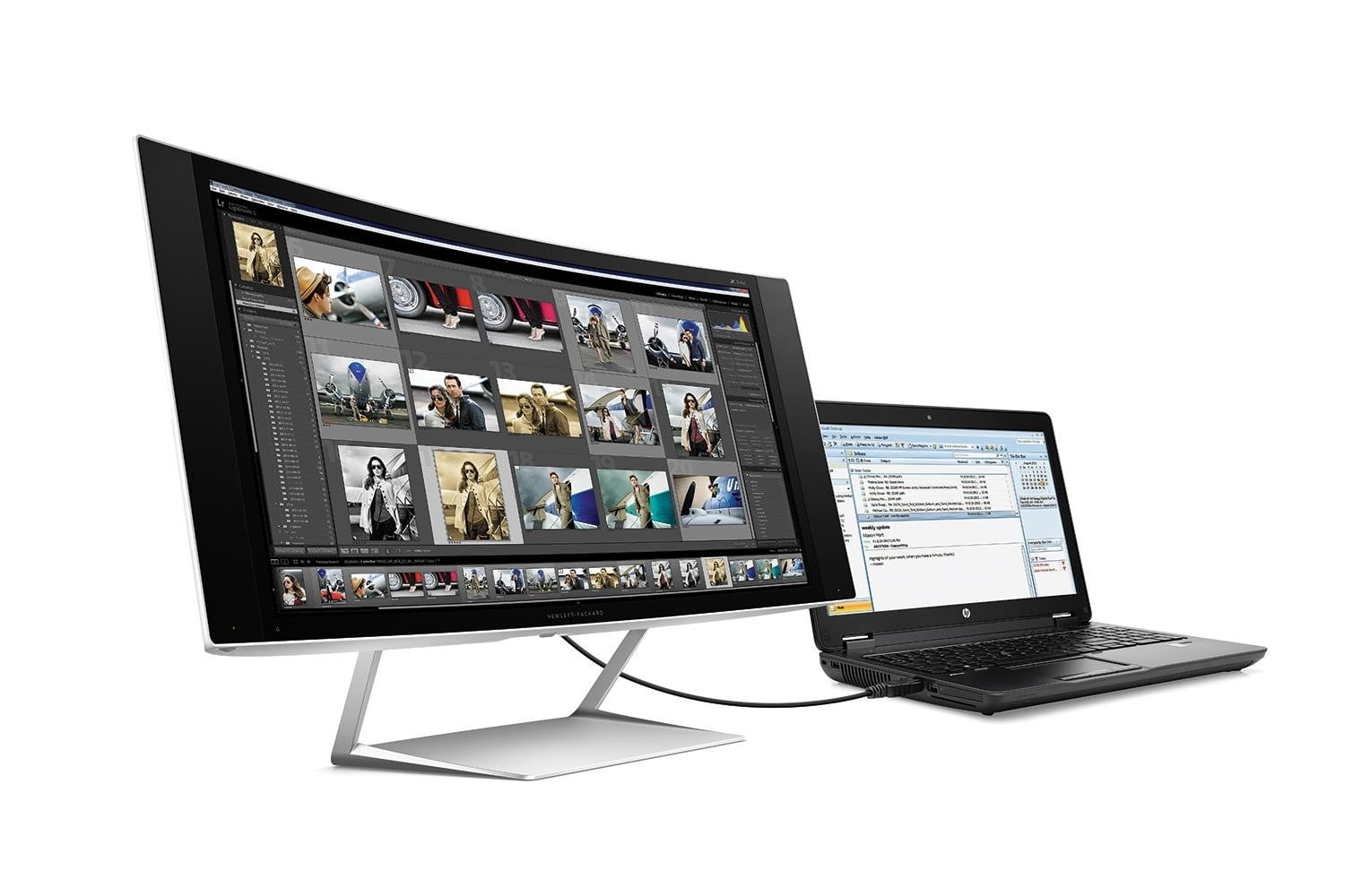 HP ZBook with HP Z24c Curve