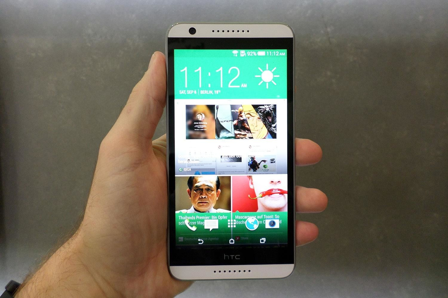 htc desire 820 hands on front