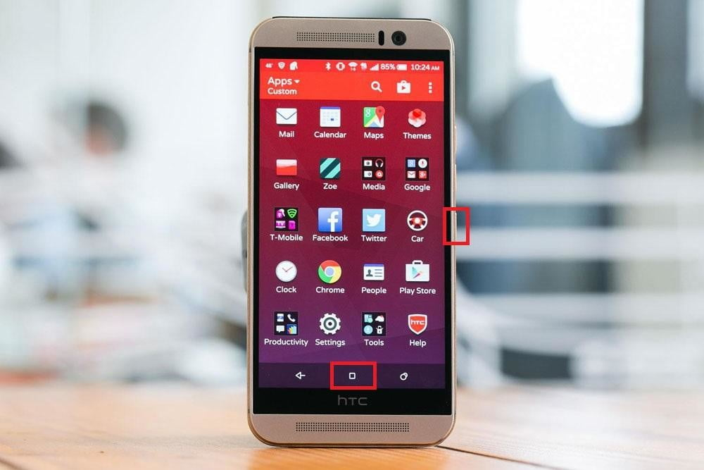 how to take a screenshot htc one x plus android m9 apps