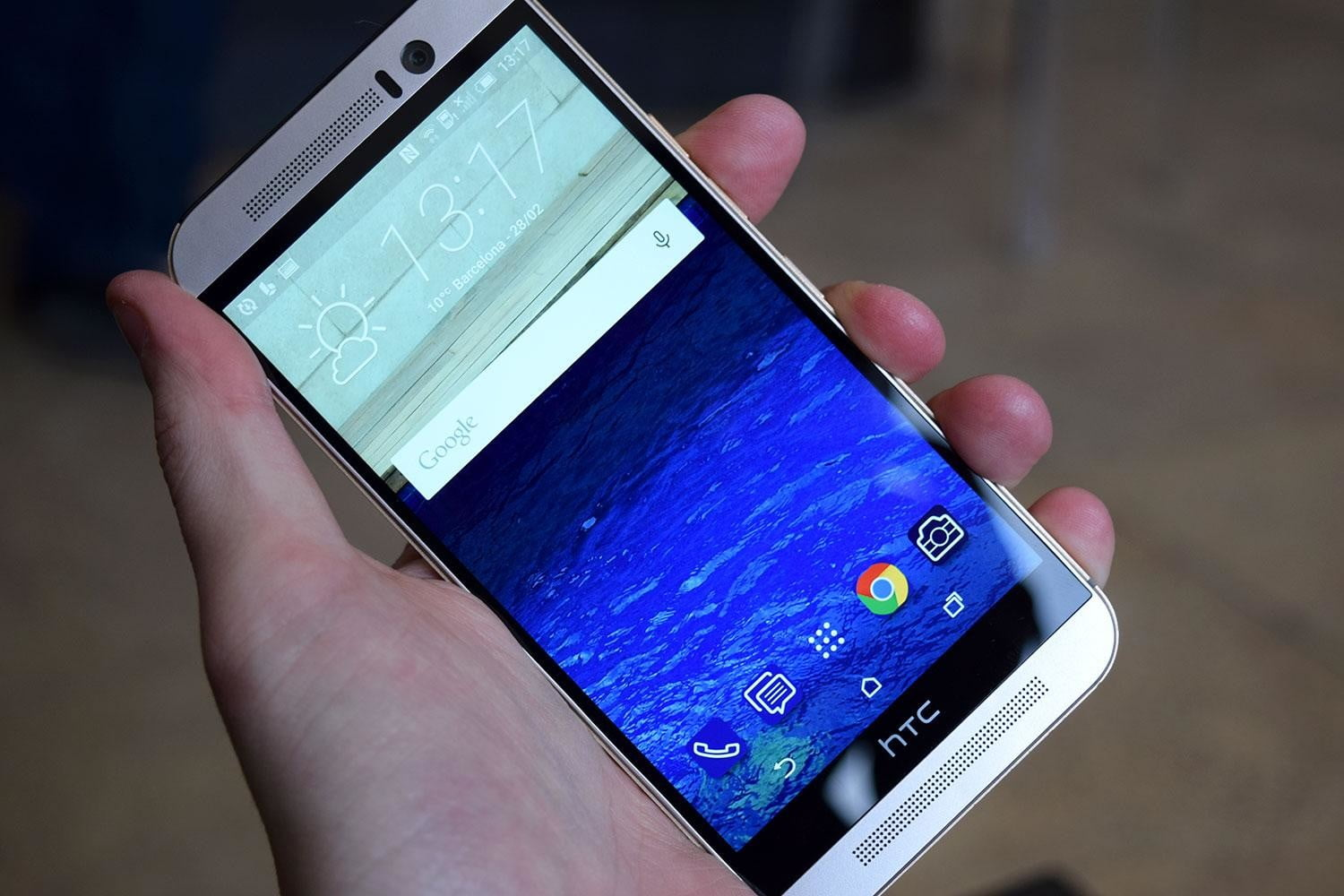 samsung galaxy s6 vs htc one m9 front angle