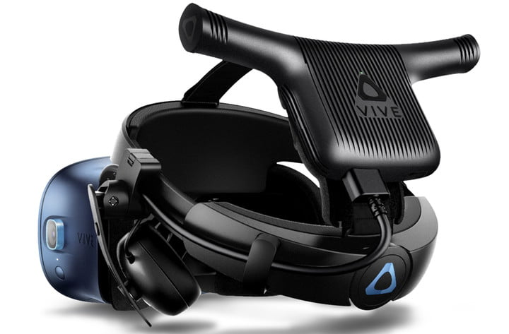 Close-up of Vive Pro headset.