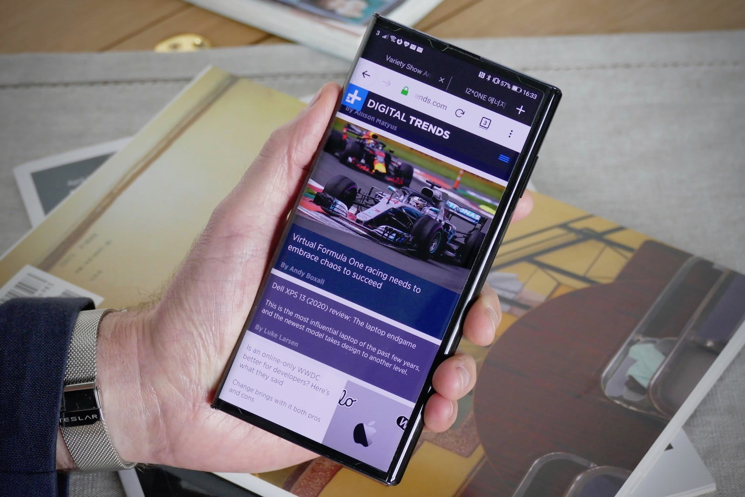 huawei mate xs review browser
