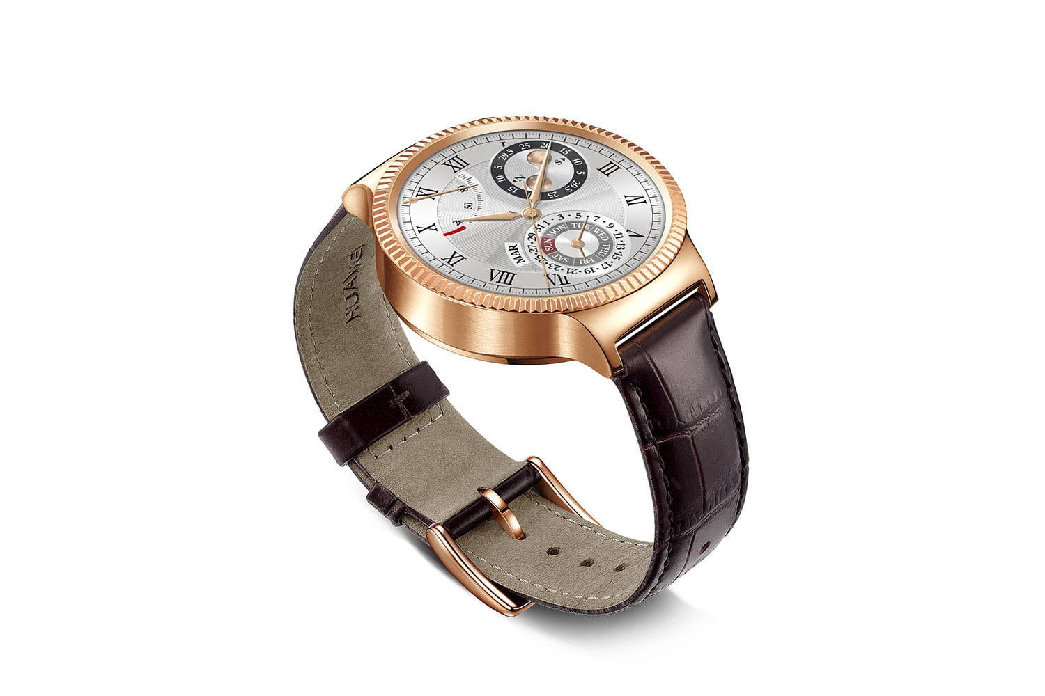 huawei watch news gold leather right angle