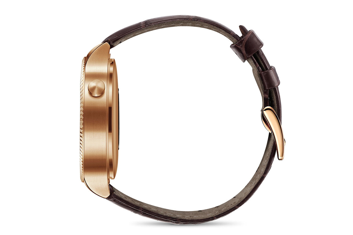 huawei watch news gold leather side