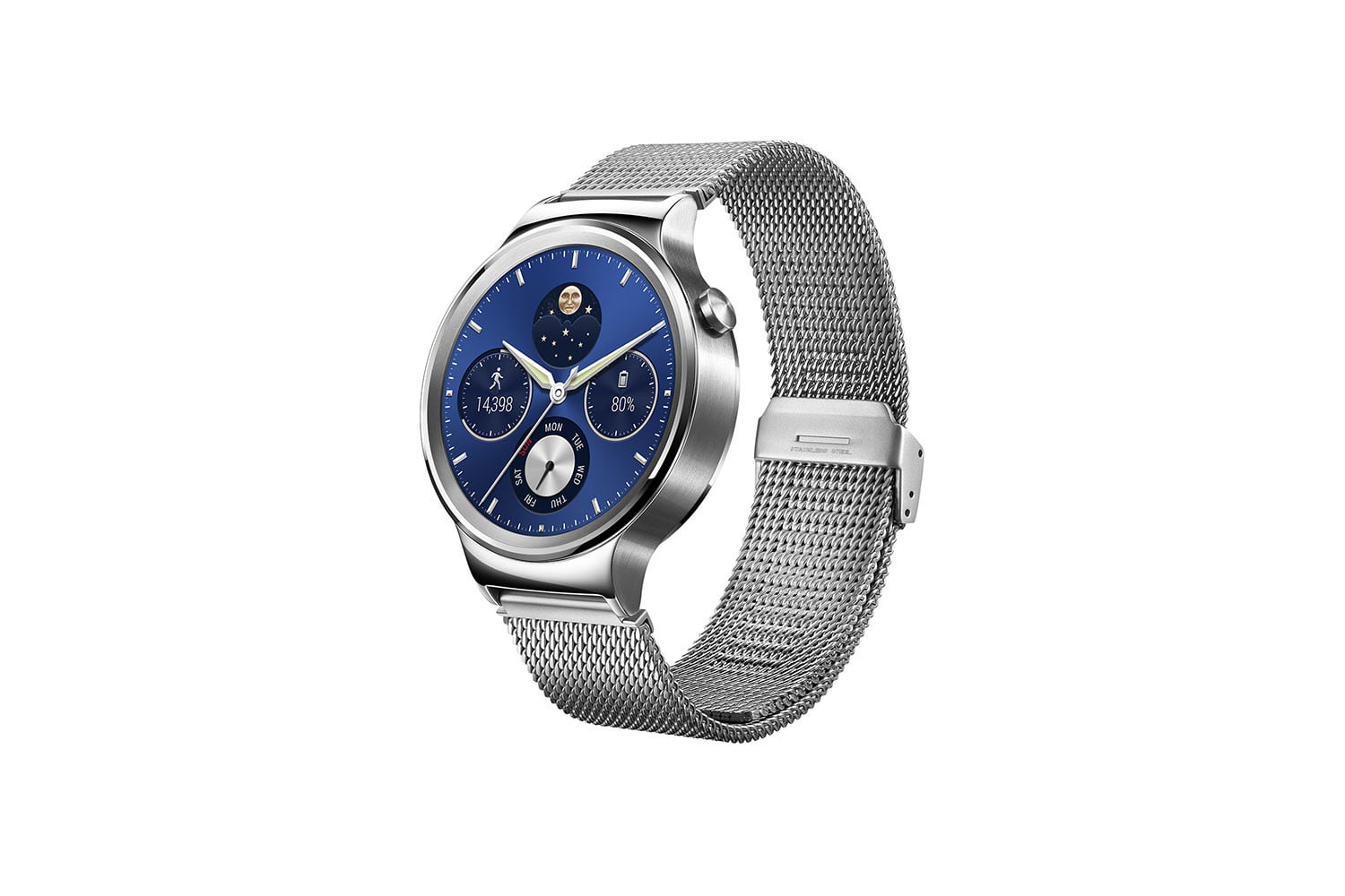 huawei watch news stainless mesh left side