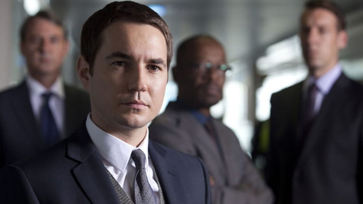 Actor Martin Compston looking serious in Line of Duty.