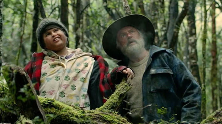 Julian Dennison and Sam Neill in Hunt for the Wilderpeople.