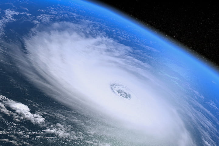 hurricane balloons from space