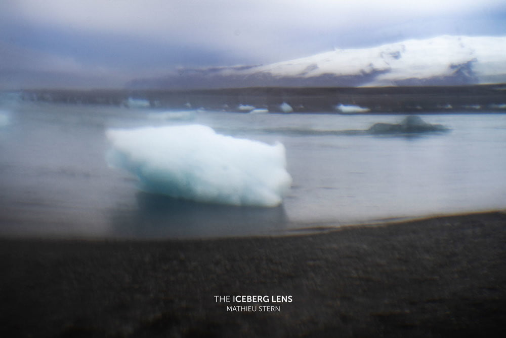 photographer takes cool photos with lens made from ice iceberg 2
