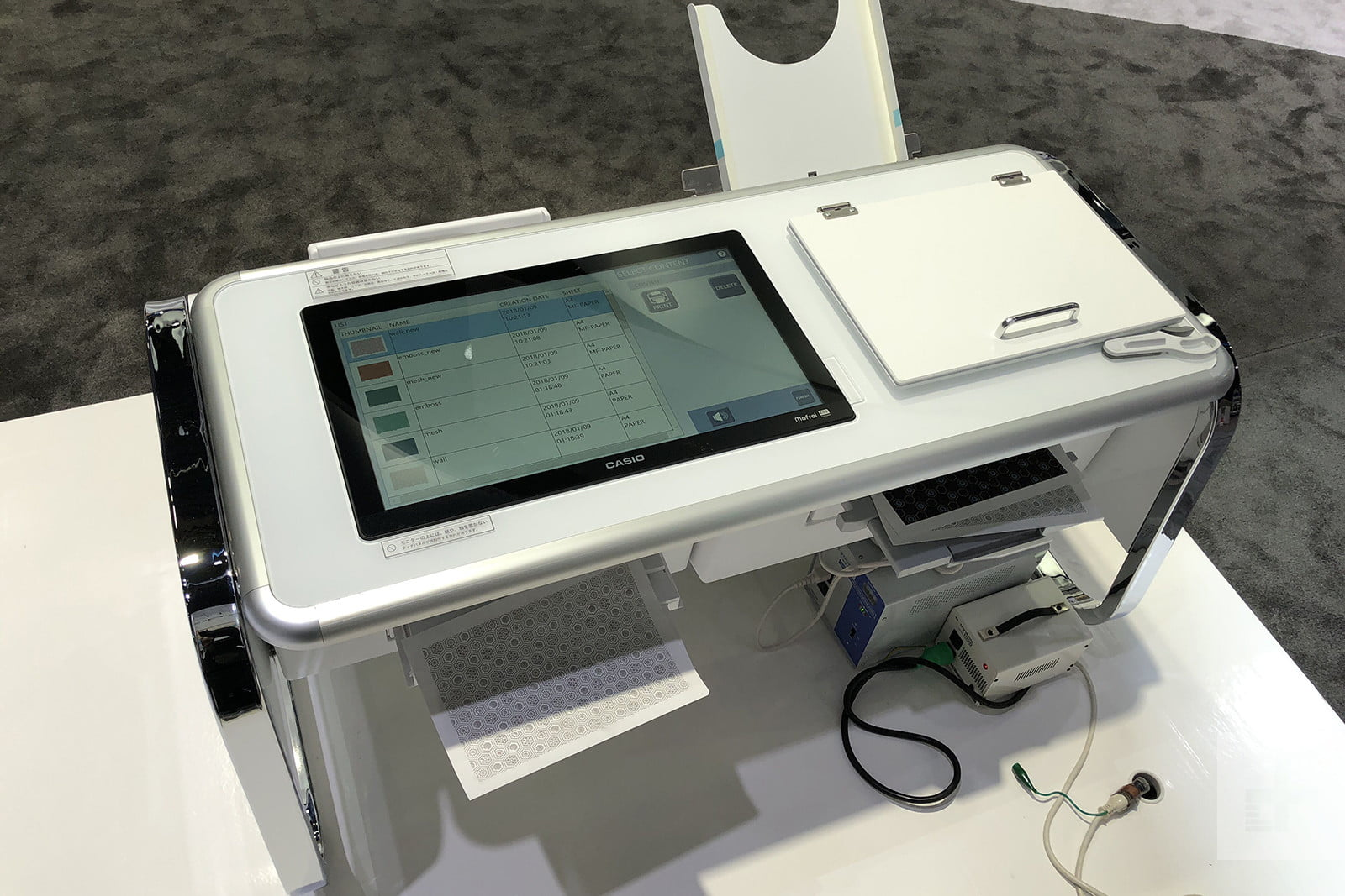 casio mofrel 25d printer ces2018 image uploaded from ios 7