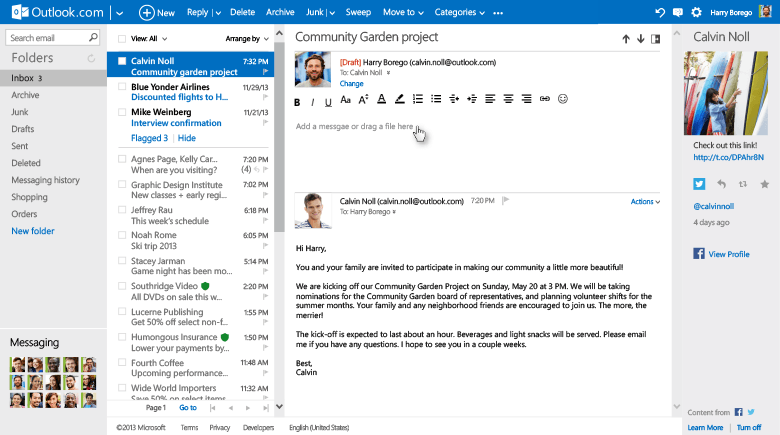 microsoft rolling upgrades web based outlook in line reply body