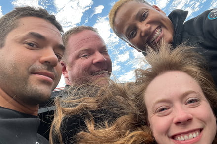 All-civilian SpaceX crew took this out-of-this-world selfie