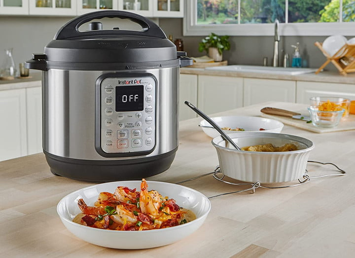 Instant Pot Duo Plus multi cooker on the counter