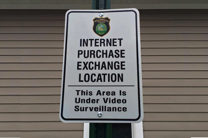internet purchase exchange location news sign