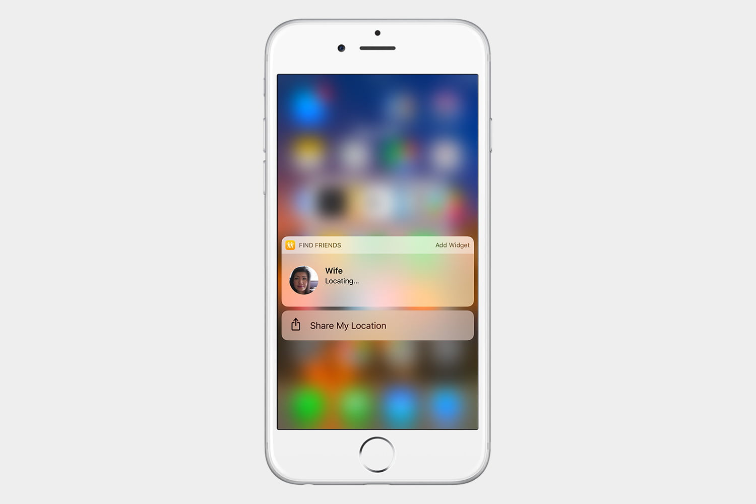 how to use find my friends ios 10 3d touch