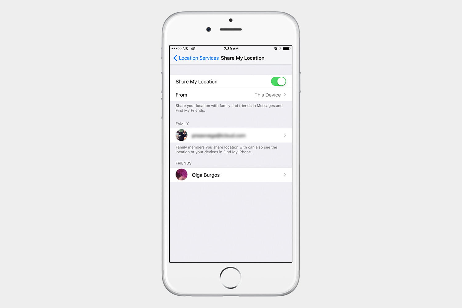 how to use find my friends ios 10 settings remove
