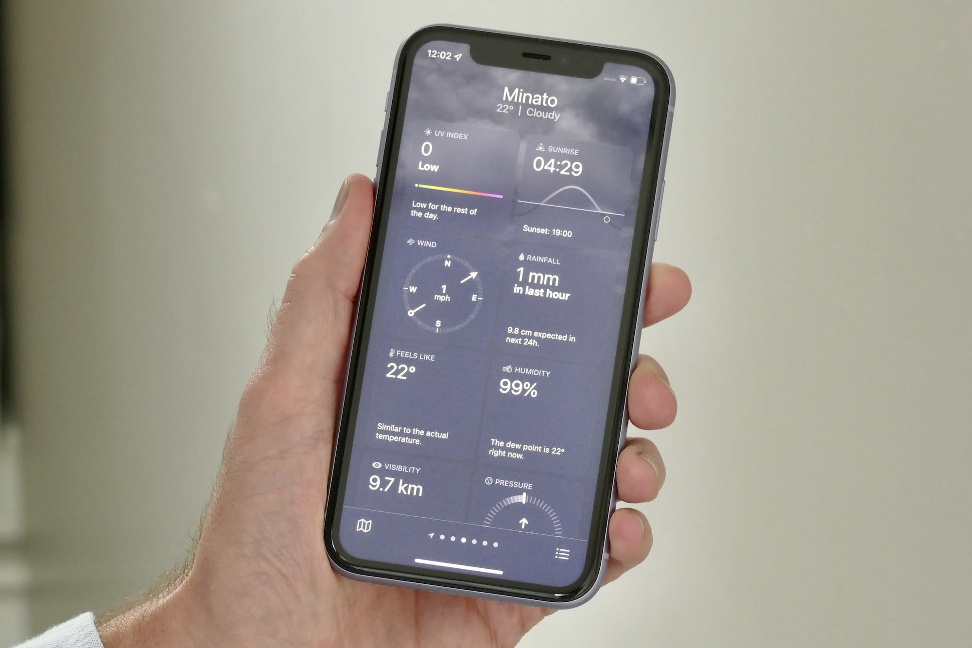 Weather details showing in iOS 15's weather app