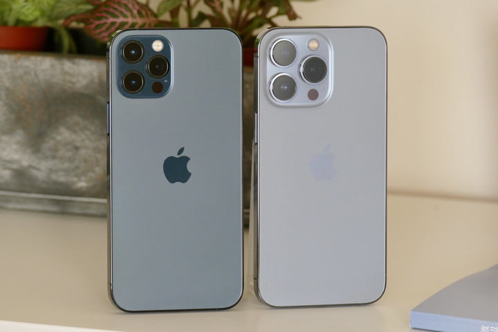 The iPhone 12 Pro and iPhone 13 Pro.