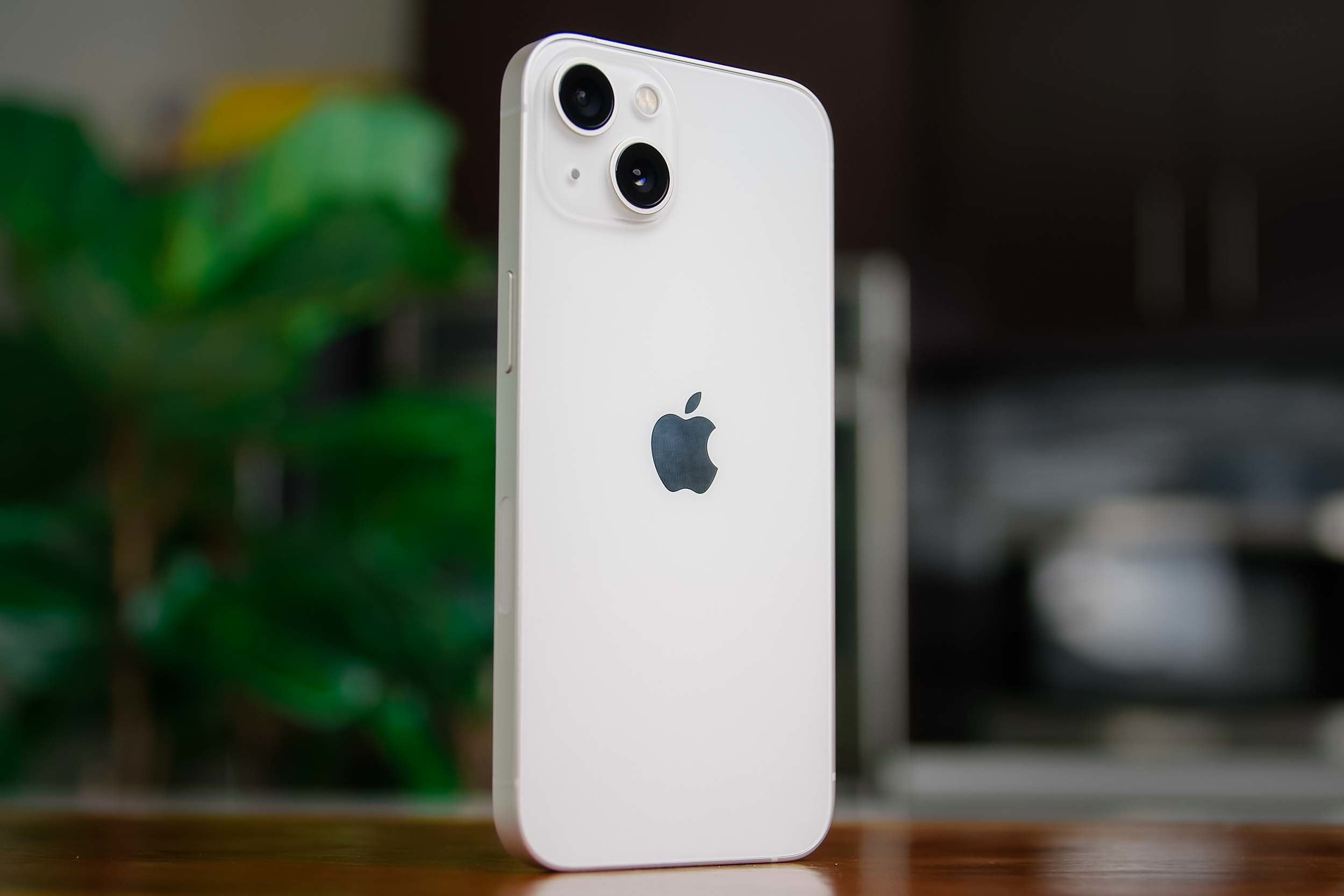 iPhone 13 showing back angled.