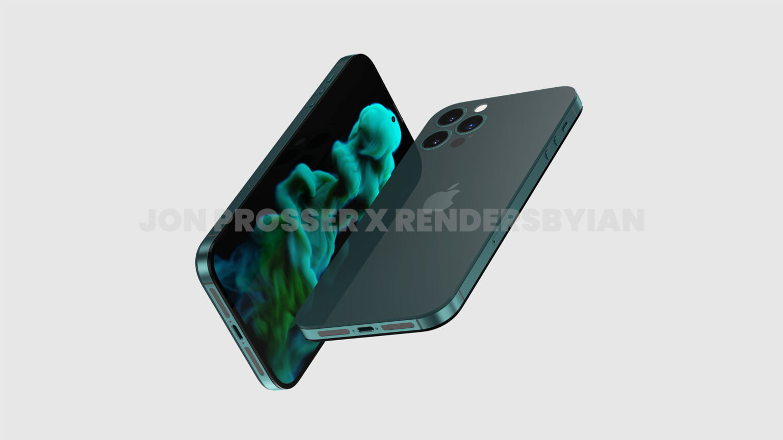 Renders purportedly showing off the iPhone 14 and its notchless front.