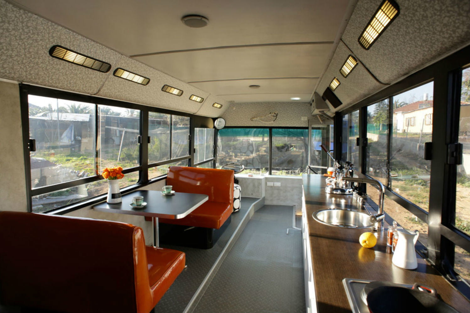 coolest bus to mobile home conversions israelbusinside