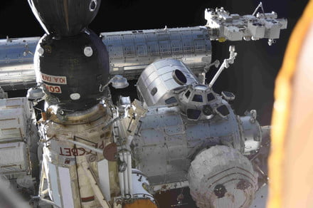Cosmonaut's remarkable photo shows unusual view of ISS