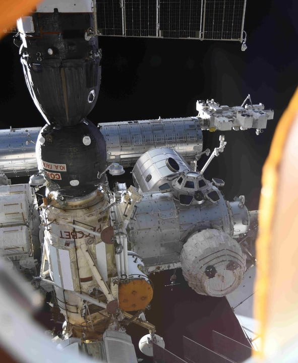 A section of the International Space Station.
