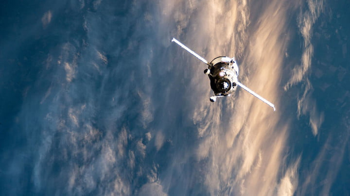 Russia's Progress 76 resupply ship, packed with nearly three tons of food, fuel and supplies, approaches the International Space Station above the eastern European nation of Ukraine on July 23, 2020.