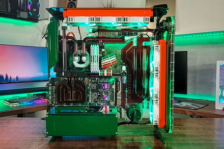 A YouTuber built a custom PC is cooled solely by Jägermeister